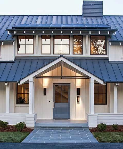 Modern Gray Exterior With Steel Beams: La Casa De Mis Sueños